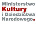 Szaro-czerwony napis Ministerstwo Kultury i Dziedzictwa Narodowego