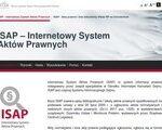 Zrzut strony Internetowy System Aktów Prawnych (ISAP)