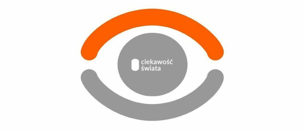 Nazwa projektu Ciekawość świata. W tle symboliczne przedstawienie oka.